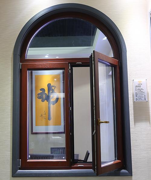 86系列铝包木异型对开窗